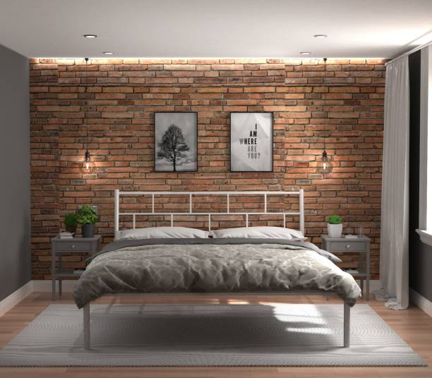 Metallika Metallika By FurnitureKraft Brick Metal Queen Bed