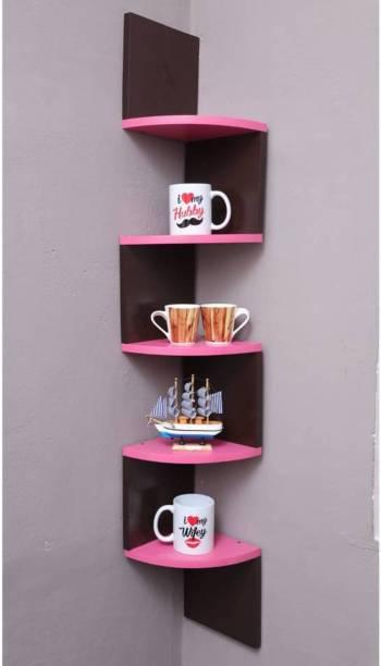 Xtenshion Crafts Engineered Wood Open Book Shelf