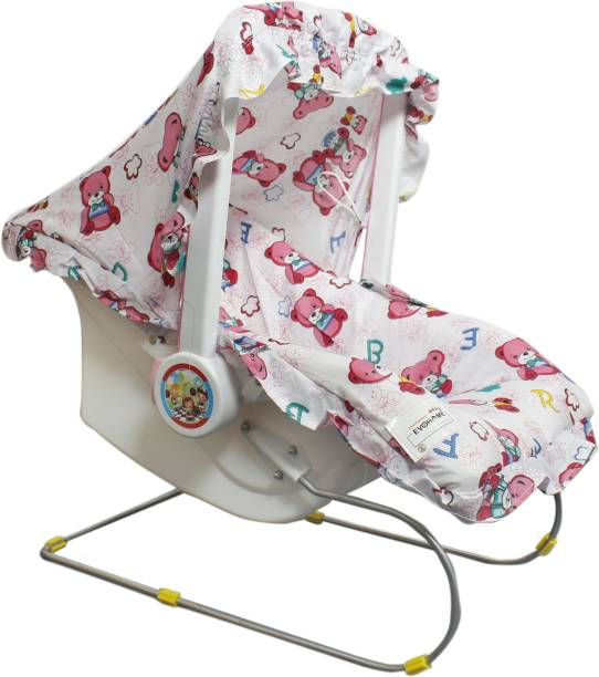 evohome 9 in 1 Premium Carry Cot Cum Bouncer Feeding Chair, Baby Carrier, Baby Chair, Rocker, Baby Bath Tub, Carrying, Bouncer, Storage Box & Baby Swing with Mosquito Net Storage Boxes Feeding Swing Rocker and Bouncer