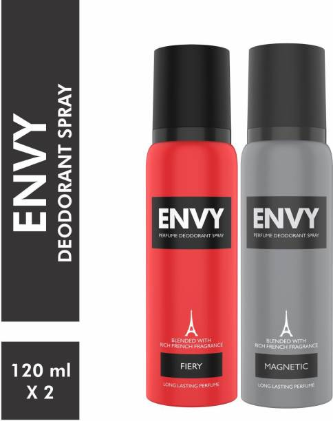 ENVY Fiery & Magnetic Deo Combo Body Spray Deodorant Spray  -  For Men