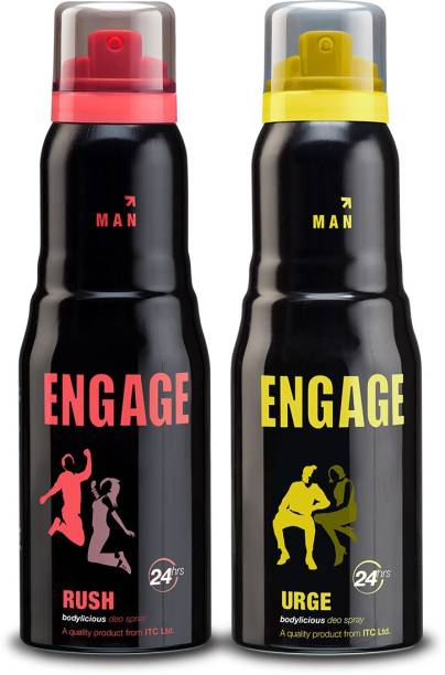 ENgAgE Rush and Urge Deodorant Spray - For Men, Pack of 2 Deodorant Spray  -  For Men