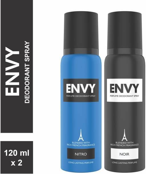 ENVY Nitro & Noir Deo Combo Body Deodorant Spray  -  For Men