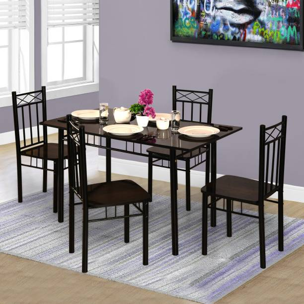 Forzza Christina Metal 4 Seater Dining Set