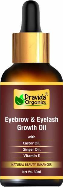 Dravida Organics Eyebrow & Eyelash Growth Oil for women 30 ml