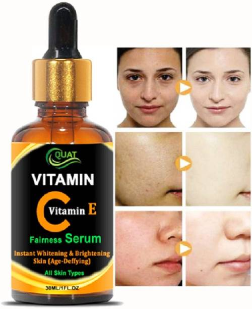 QUAT Vitamin C Face Serum for face Whitening, Pigmentation, Glowing, Oily Skin, Acne Scars,Brightening,Fairness,Anti-Aging Skin Repair with Hyaluronic Acid_30ml