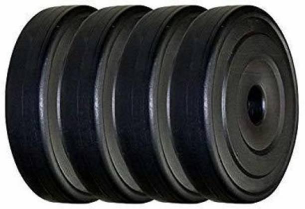 FIT & FITNESS PVC Plates 3KG x 4 Each, Plates Set Black 12Kg Weight Plate Black Weight Plate