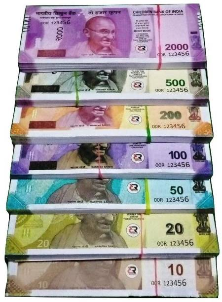 BBS DEAL Combo (18 Each x 7=126 Nakli Note) Playing Indian Currency Notes for Fun Paper Kids churan wale Note (( Nakli Note-10,20,50,100,200,500,2000 )) Nakli Indian Notes Gag Toy PRANK TOY Gag Toy