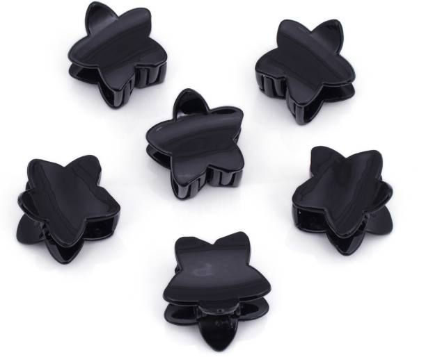 Sukkhi Stunning Black Butterfly Hair Clip Hair Accessories for Women and Girl (Pack of 6) (Size : M) Hair Claw