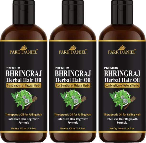 PARK DANIEL BHRINGRAJ Herbal Hair oil- Therapeutic Oil for Falling Hair(Intensive Hair Regrowth Formula) Combo Pack of 3 Bottles(300 ml) Hair Oil