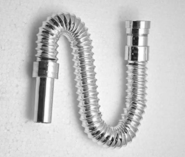 ANNA CREATIONS PVC Water Outlet Waste Pipe for Wash Basin/Sink (Chrome) Hose Pipe