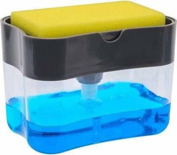 Flipkart SmartBuy 2 in 1 Soap Pump Plastic Dispenser for Dishwasher Liquid; Holder 380 ml Liquid, Soap Dispenser