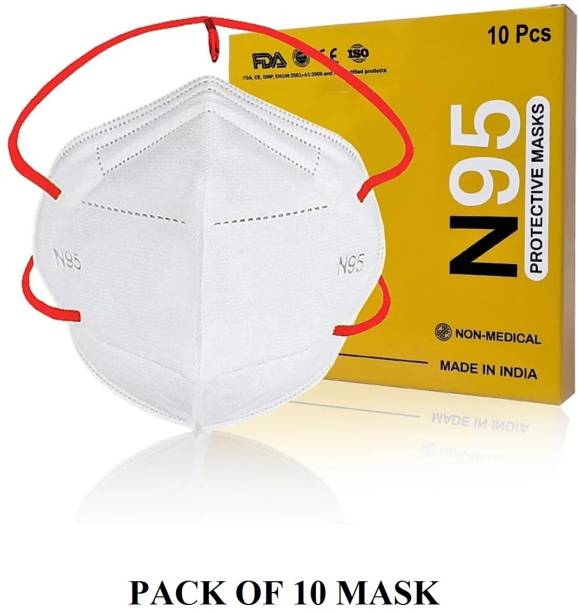 SPERANZA Pack of 10 , Head loop White n95 pollution anti dust mask for men and women HED-WHT010