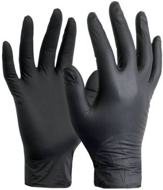 DM SPECIALLY FOR SPECIALIST 100 % Quality & Quantity Guaranteed Powder Free, Comfortable Industrial Gloves - (Black) Nitrile Examination Gloves Nitrile Surgical Gloves