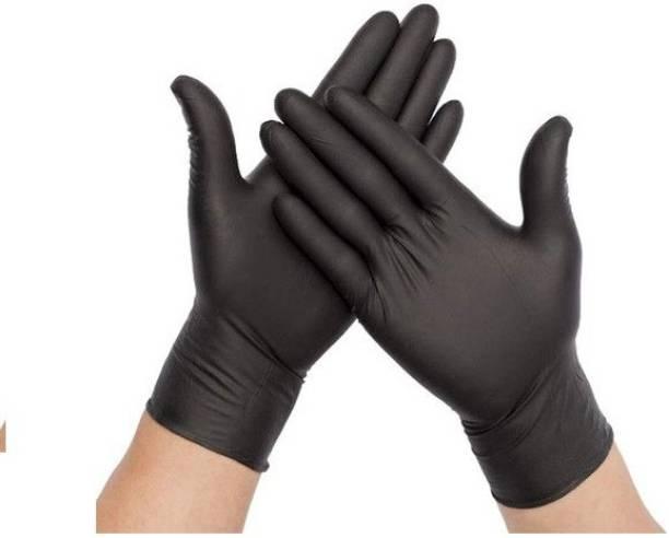 DM Eco - Premium Quality Nitrile Gloves Black (Large Size) FDA / CE / ISO 9001:2015 Certified Nitrile Examination Gloves