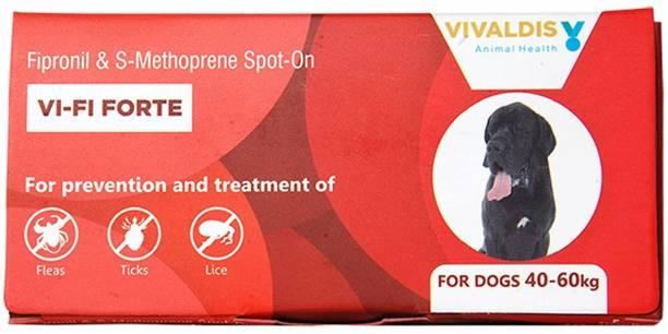 VIVALDIS Single Pipette Prevention & Treatment Of Fleas, Ticks & Chewing Lice Infestation For Dogs (40-60Kg) 4.02 ml Pet Coat Cleanser