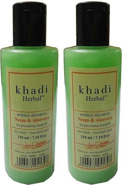 Khadi Herbal Neem & Aloevera Shampoo (Sls & Paraben Free)