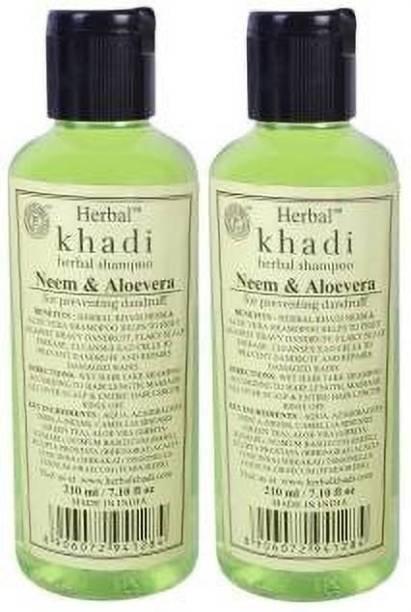 Khadi Herbal Neem & Aloevera Shampoo - Anti Dandruff & Anti Hair Fall