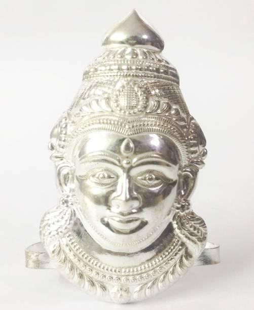 AMKL Silver Coated laxmi mukhota Decorative Showpiece  -  12 cm