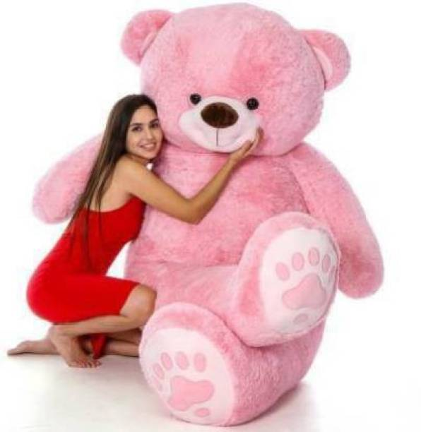 Shanshu Teddy Bear 5 Feet Soft Toy | Birthday Gift for Girls/Wife, Boyfriend/ Husband | Wedding/Anniversary Gift for Couple Special | Baby Toys Gift Items, Extra Large (5 Feet, Pink)  - 148 cm