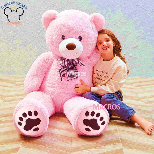 Macros 4 Feet Pink American Style Cute Jumbo Teddy Bear Special Edition for Gift/Valentine/someone special.  - 100 cm