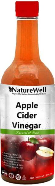 Naturewell Apple Cider Vinegar with Mother Vinegar For weight loss (500ML/RED)Ultra Vinegar