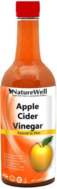 Naturewell Organic Apple Cider Vinegar with Mother for Weight Loss Vinegar (500 M L)Ultra Vinegar