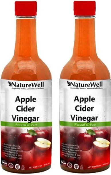 Naturewell Apple Cider Vinegar with Mother Vinegar For weight loss (500MLX2/RED)Ultra Vinegar