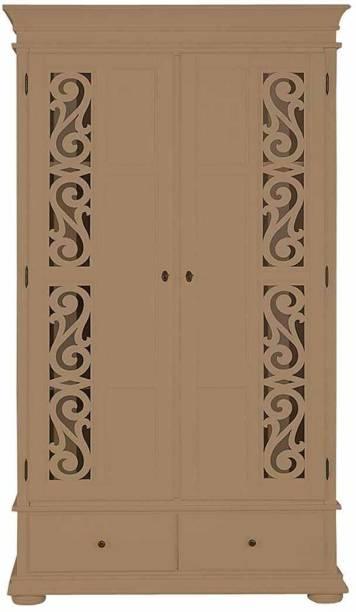 APRODZ Solid Wood 2 Door Almirah