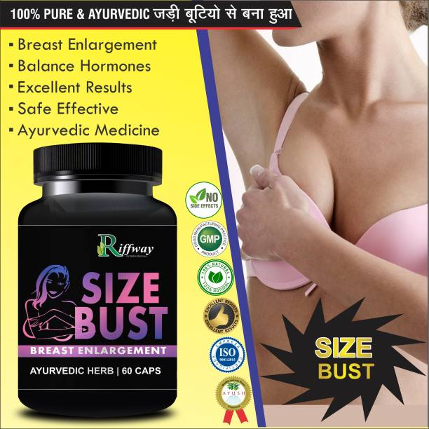 Riffway Size Bust Herbal Capsules For Women's Health Care 100% Ayurvedic