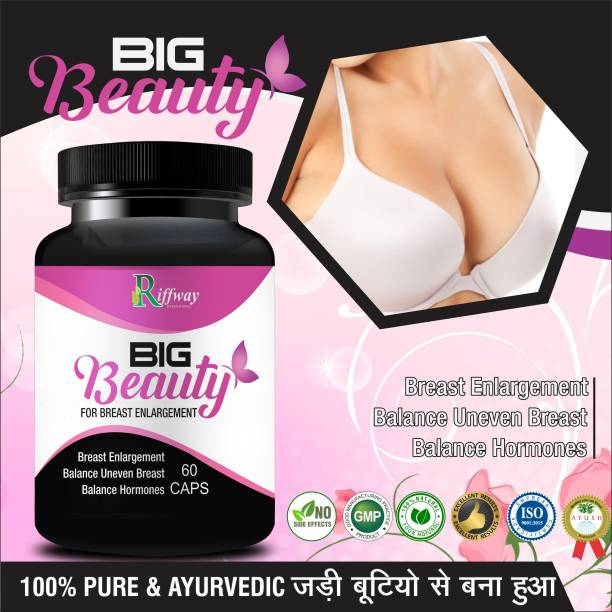 Riffway Big Beauty Herbal Capsules For Increase Women's Breast Beauty Naturally 100% Ayurvedic
