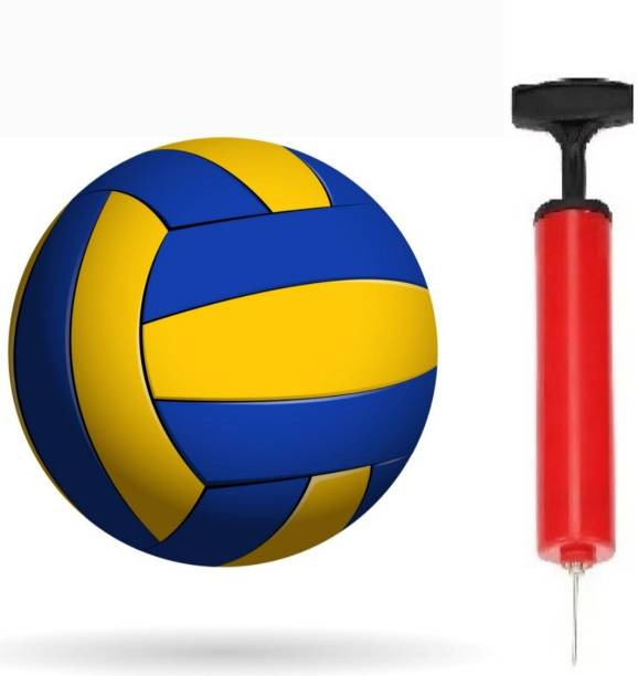 clark Classic chek volleyball with air pump Volleyball - Size: 4