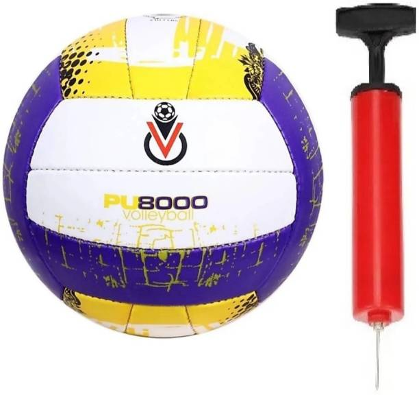clark Pu 5000 purple with air pump Volleyball - Size: 4