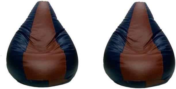 Gunj XXXL Tear Drop Bean Bag Cover  (Without Beans)