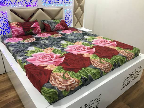 HOME STAR 180 TC Cotton Double Printed Bedsheet
