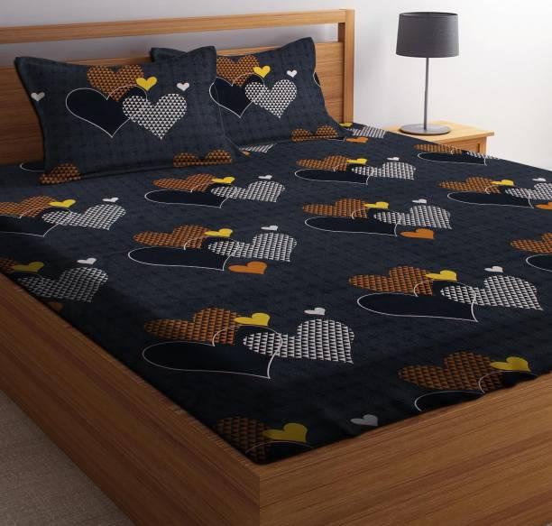 Casa Confort 144 TC Microfiber Double Printed Bedsheet