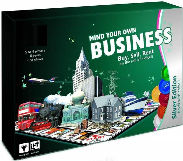ARNIYAVALA Mind Your Own Business (Silver - Coin) Money & Assets Games Board Game