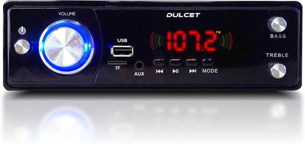 DULCET DC-3030X High Power Single Din MP3 Car Stereo with BIG LED Display/Bluetooth/USB/FM/AUX/MMC/Remote Control and 3.5mm Premium AUX Cable DC-3030X Car Stereo