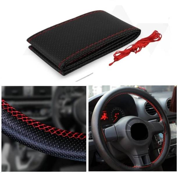 s mangalam Hand Stiched Steering Cover For Nissan Alto