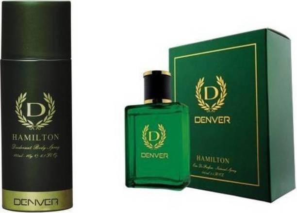 Denver Hamilton Deodorant & Perfume Spray Combo Set