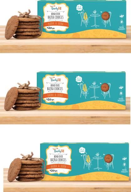 SurelyFitt Bond Over Bajra Grain Cookies (Pack of 3)