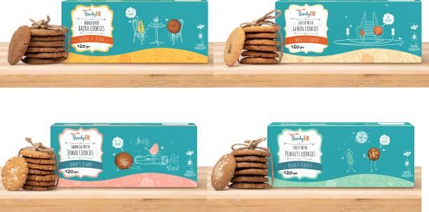 SurelyFitt Cookies Combo (Gehun Cookies, Bajra Cookies, Peanuts Cookies, Jowar Cookies)