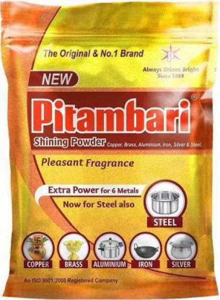 Pitambari Minerals Emulsifiers Shining Powder for 6 Types of Metals (200 g, Orange) Dishwash Bar