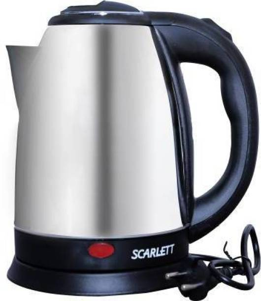 Infinity Creation 2001-Hot Water Pot Portable Boiler Tea Coffee Warmer Heater Cordless Electric Kettle (2, Silver) Electric Kettle