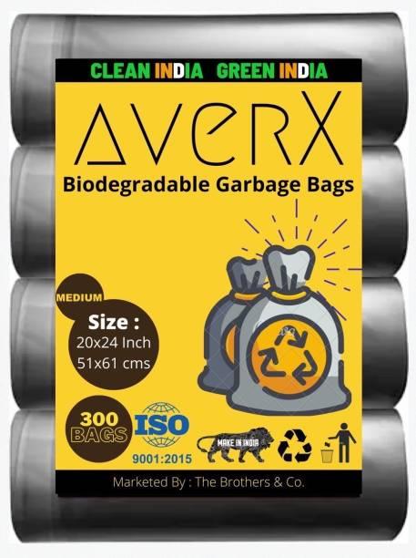 averX Premium Black Garbage Bag - 20x24 inches (Pack of 10, 300 Pieces, Medium) Medium 35 L Garbage Bag