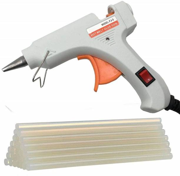 Maurvi White 20 Watt Mini Ougesen On Off Switch With 10 Hot Melt Sticks Standard Temperature Corded Glue Gun (7 mm) Standard Temperature Corded Glue Gun