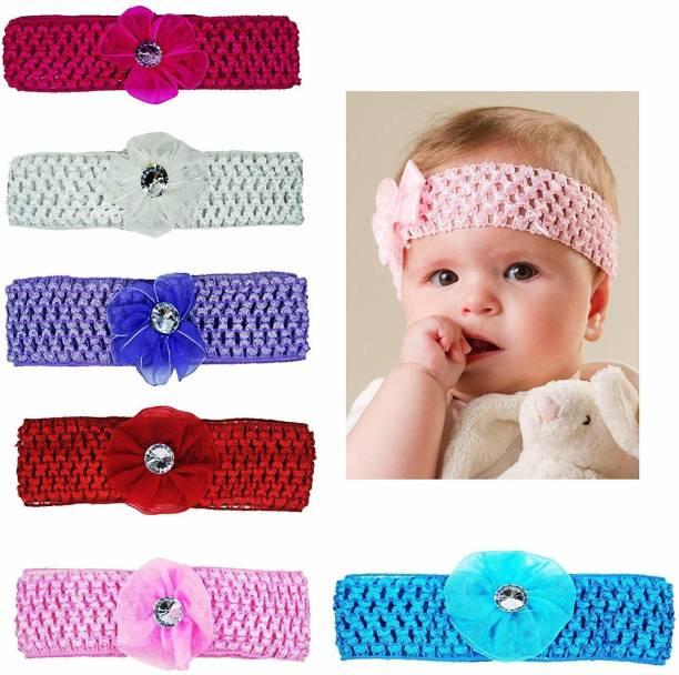 JBHB Elastic Hand Knitted Normal Bow Headbands 12 PCS (Random colour & Design) Hair Band