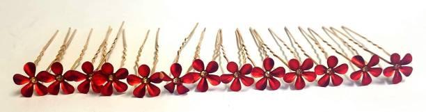 Pia Creations Beautiful flower Hair Jewelry Bridal Hair Pin Juda Pins 12 pcs Hair Pin