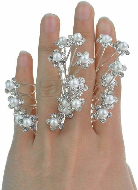 RosaStella Beautiful White Pearl Hair Jewelry Bridal Hair Pin Juda Pins 12 pcs (White) (pearl white) Hair Pin