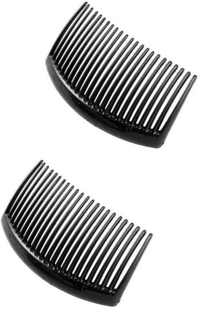 High Profile Black Plastic Hair Comb slide Clip Hairpin Side Combs Pin for Women and Girls - Pack of 2 Hair Pin