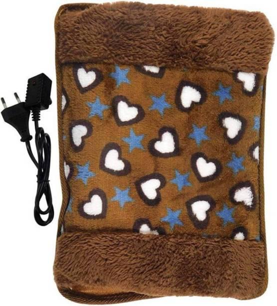 PYXBE Deluxe Velvet Pocket Heating Hot Water Bag With Fur Electric 1.5 L Hot Water Bag Electric Water Bag Water Bag 1.5 L Hot Water Bag Heating pad_ 1.5 L Hot Water Bag